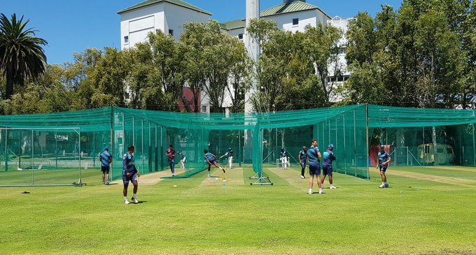 Squad net session @NewlandsCricket ahead of our next #4DaySeries match against @WarriorsCrickEC starting at PPC Newlands on Monday Photo