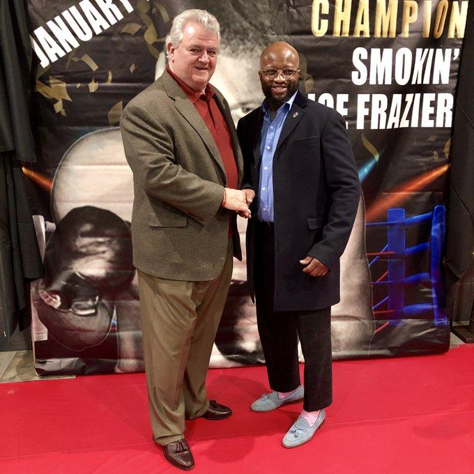 Happy 75th. Birthday  Smokin Joe Frazier... Thanks for having me  Mr. & Ms. Lyde...