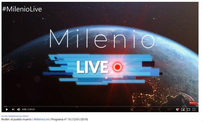 #MilenioLive Rodén, el pueblo muerto acaba de entrar en Tendencias de Youtube. Puesto nº 16. Si te lo perdiste aquí lo tienes al completo: Foto