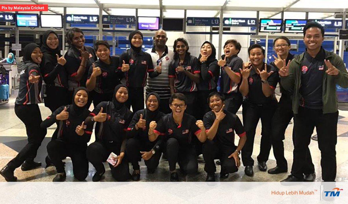 Semoga berjaya buat skuad @MalaysiaCricket wanita yang akan beraksi di Thailand Women's T20 Smash 2019 bermula esok. Mereka diundi dalam kump. A bersama #NEP 🇳🇵, #THA 🇹🇭 A, #CHN 🇨🇳 & #UAE 🇦🇪. Persediaan menjelang kelayakan #T20WorldCup. Make us proud, ya! 🙌🏻 #KamiTeamMalaysia