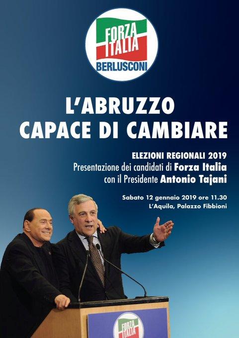 In partenza per L'Aquila dove presenterò la lista dei candidati  per le prossime regionali. Un saluto agli amici di @forza_italia che ,a Torino,partecipano alla manifestazione #SiTav .Sono con voi ! Foto