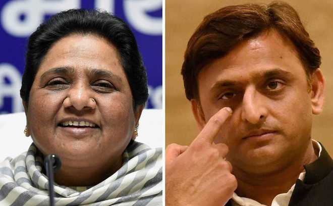 Akhilesh Yadav, Mayawati announce alliance for 2019 Lok Sabha polls Photo