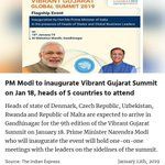 Vibrant Gujarat Summit Twitter Photo