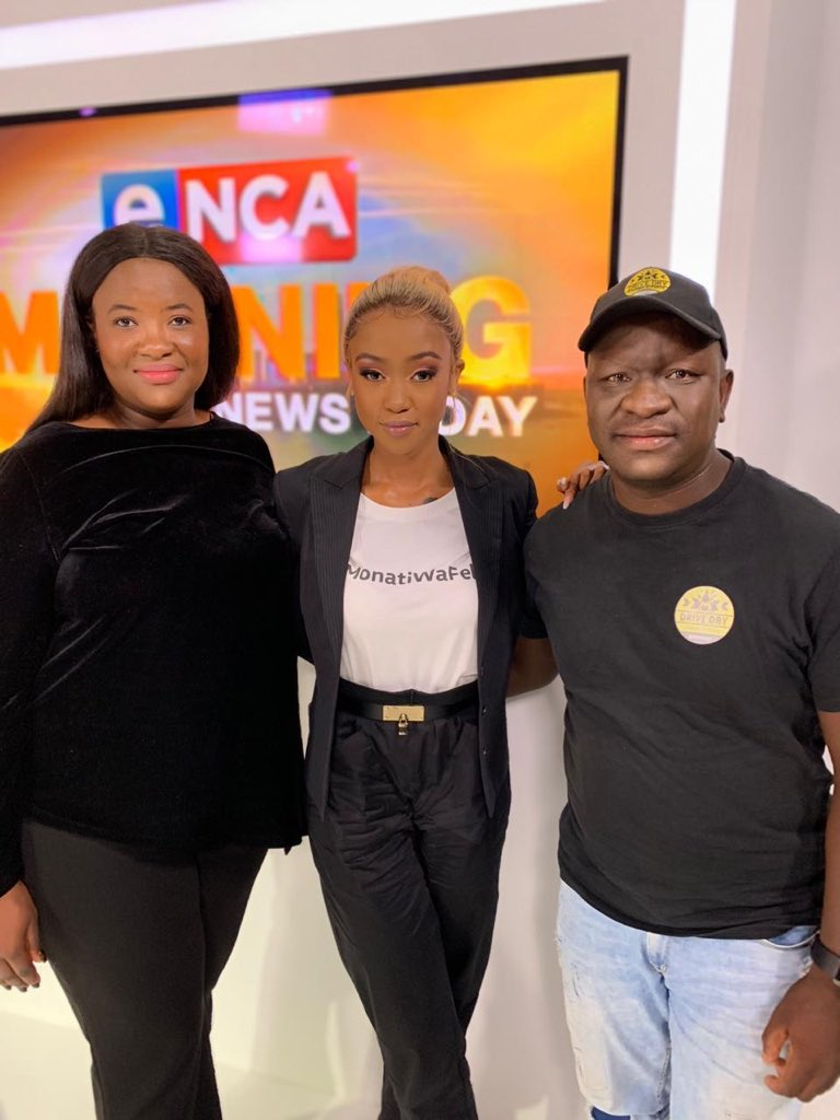 Our Digital Marketer @DimaLukhele on @eNCA this morning alongside @NoMoozlie talking about #VWDriveDry. #KatsoMedia fully supports the campaign and its impactful message to drive awareness against texting, drinking, going 'live' and more while driving. It's time for change! https://t.co/OZi5XL3uBc