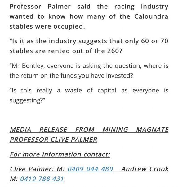 FYI for all those who have received a text from Clive Palmer #auspol Photo