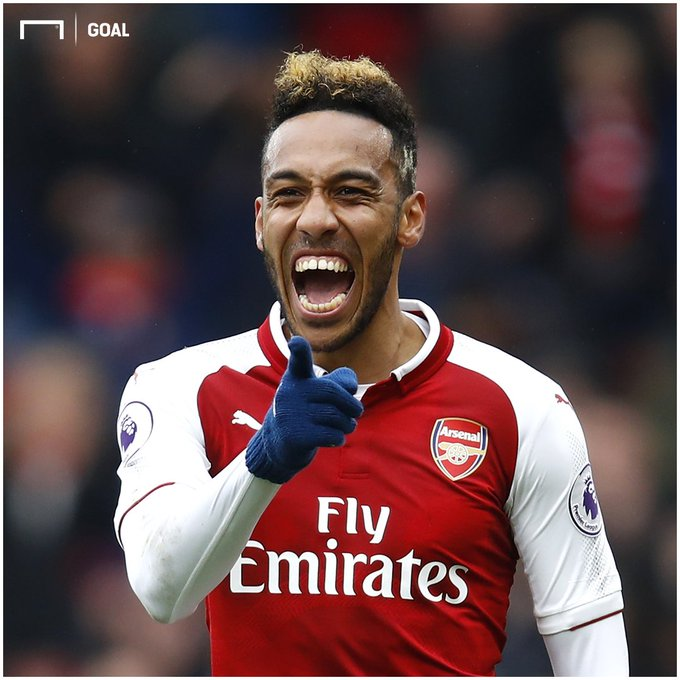 Watch out, West Ham 😳 Arsenal's Pierre-Emerick Aubameyang has scored in each of his last four Premier League London derby matches, netting six goals in total while also providing two assists 🔥 #WHUARS Photo