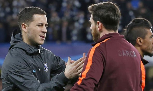 "1. Eden Hazard on this picture: ""Who is he? Two 🐐s? There's only one 🐐: Lionel Messi! My eldest son is a big fan of Messi - in my little family we all are in fact. He's a special player. Together with my kids I regularly watch the big players: Messi, Ronaldo, Neymar..."" #cfc"