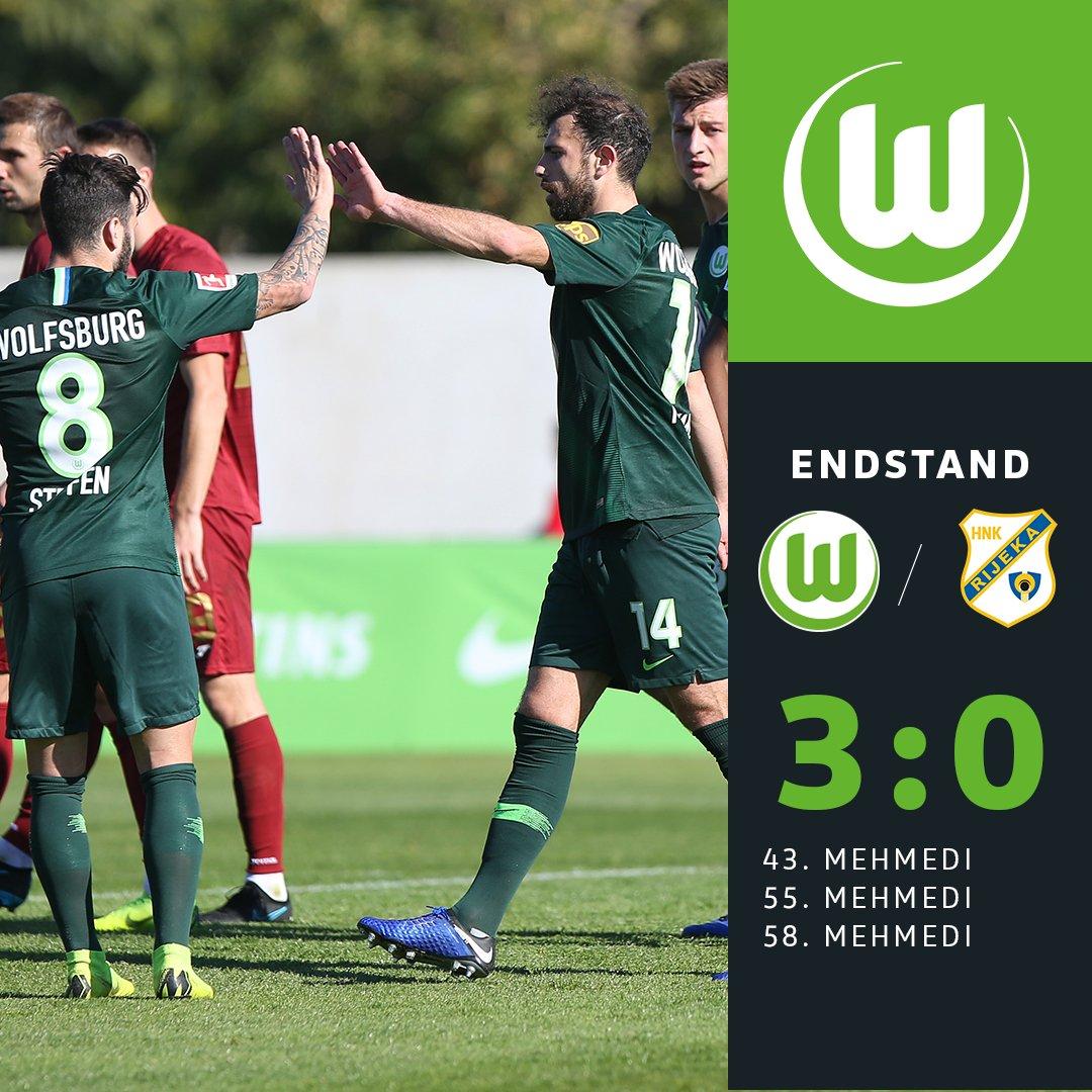 Das Spiel ist zu Ende. Die Wölfe gewinnen mit 3:0. #WOBHNK #immernurdu #VfLWolfsburg