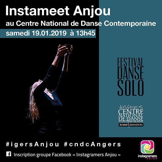 Samedi 19 Janvier 2019, les @Igers Anjou vous propose un instameet au @cndcAngers . Vous serez en immersion au sein du Festival Solo. . . Infos et inscription via le groupe privé Facebook Instagramers Anjou #iGersAnjou  #cndcAngers ————————— ↠ Abonne… http://bit.ly/2D5yCeJ
