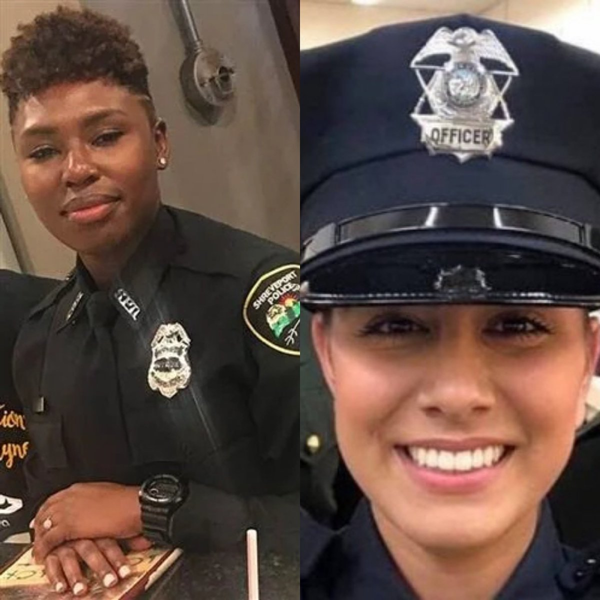Today, our thoughts and prayers are with the family and friends of Shreveport Louisiana Police Officer, Chateri Payne and Davis California Police Officer, Natalie Corona who were both shot and killed earlier this week.  #GoneButNeverForgotten <br>http://pic.twitter.com/QB7IErrNhk