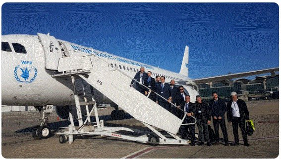 Happeningtoday 1st flight for Airbus A320! @WFP_UNHAS augments