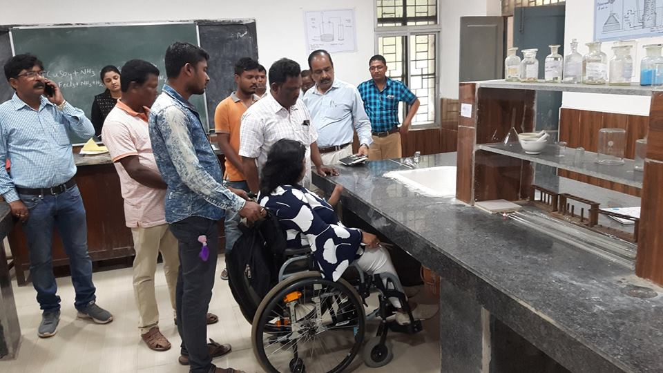"""When I spoke about making Bio-chemistry lab #accessible for persons with #disabilities, everyone was shocked!! I smiled """"I am also a Science graduate"""" & convinced others to take subjects of their choice"""