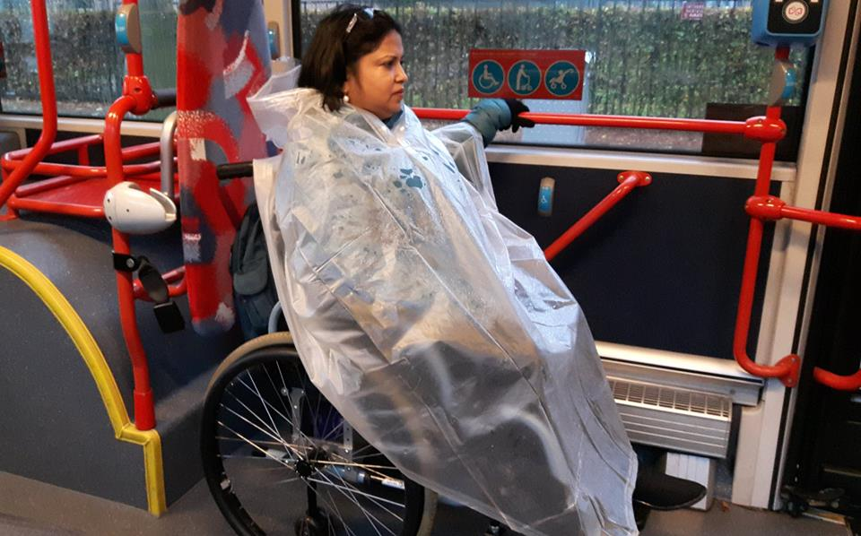 Loved my rain coat and bless its designer because usually no one think of such utility items for persons with #disabilities #universaldesign
