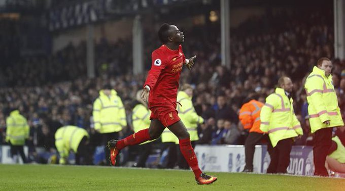 Sadio Mané to play his 100th game for Liverpool today. #BHALIV Photo