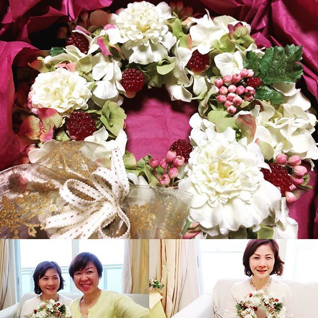 Artificial Flower ってご存知ですか? 生花にはない美しさをもつ造花なんです。大好きなAtelier Linoの本多紀子さんから教わりながら、リース作りました! #artificalflower #atelierlino #人生の質を高める #女性の働き方 #webライティング #色合いが好き http://bit.ly/2snxOf3