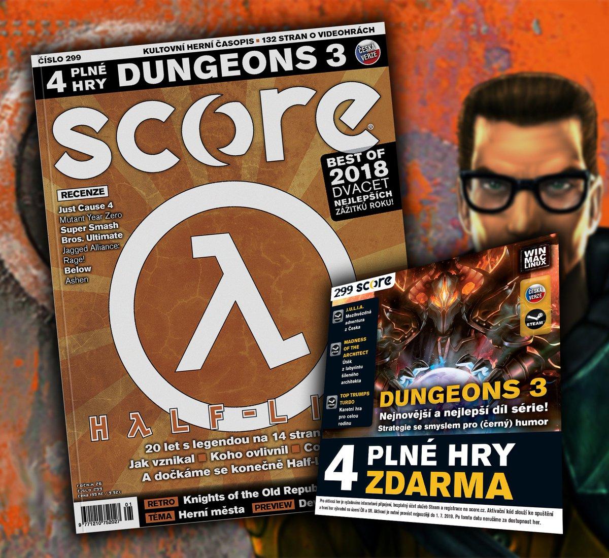 Nové SCORE je venku. Je snad venku i Half-Life 3? Nikoliv, jen velkým vzpomínkovým článkem slavíme 20 let od prvního dílu. Nejlepší momenty, making of, perličky... a možná dojde i na ten HL3. https://t.co/rHeNa10Fpl