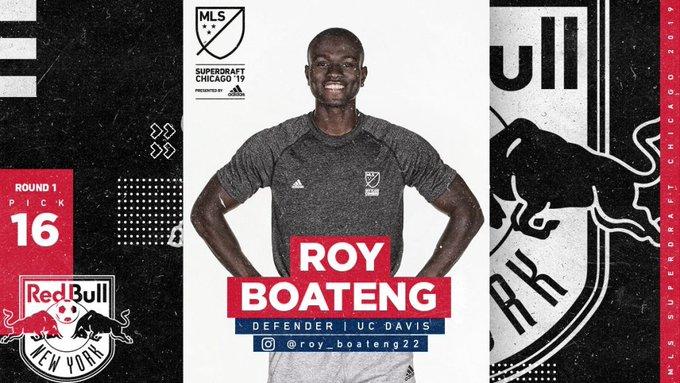 New York Red Bulls select Ghanaian defender Roy Boateng in MLS SuperDraft Photo