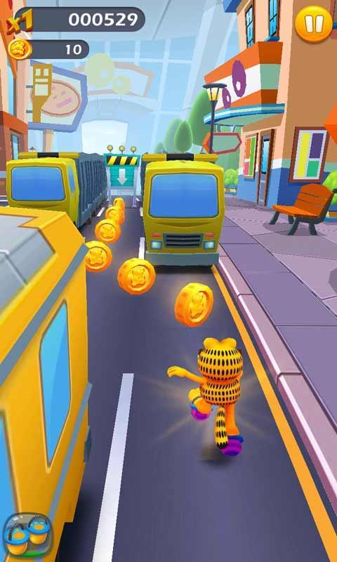 Download Garfield Rush Mod For Android