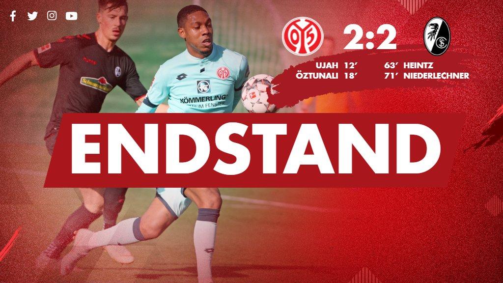 Erster Test zwischen #Mainz05 und dem @SCFreiburg endet 2:2-Unentschieden. Spiel zwei folgt dann um 14 Uhr. #M05SCF