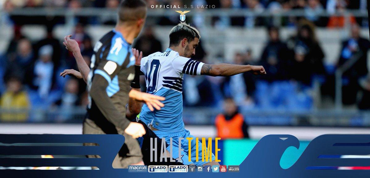 ⏸️ Half time   #LazioNovara 4-0   🤩 Splendida frazione di gioco per i biancocelesti che chiudono i primi 45' avanti di quattro reti! ⚽️ @LuisAlberto ⚽️⚽️ @CiroImmobile ⚽️ #Milinkovic