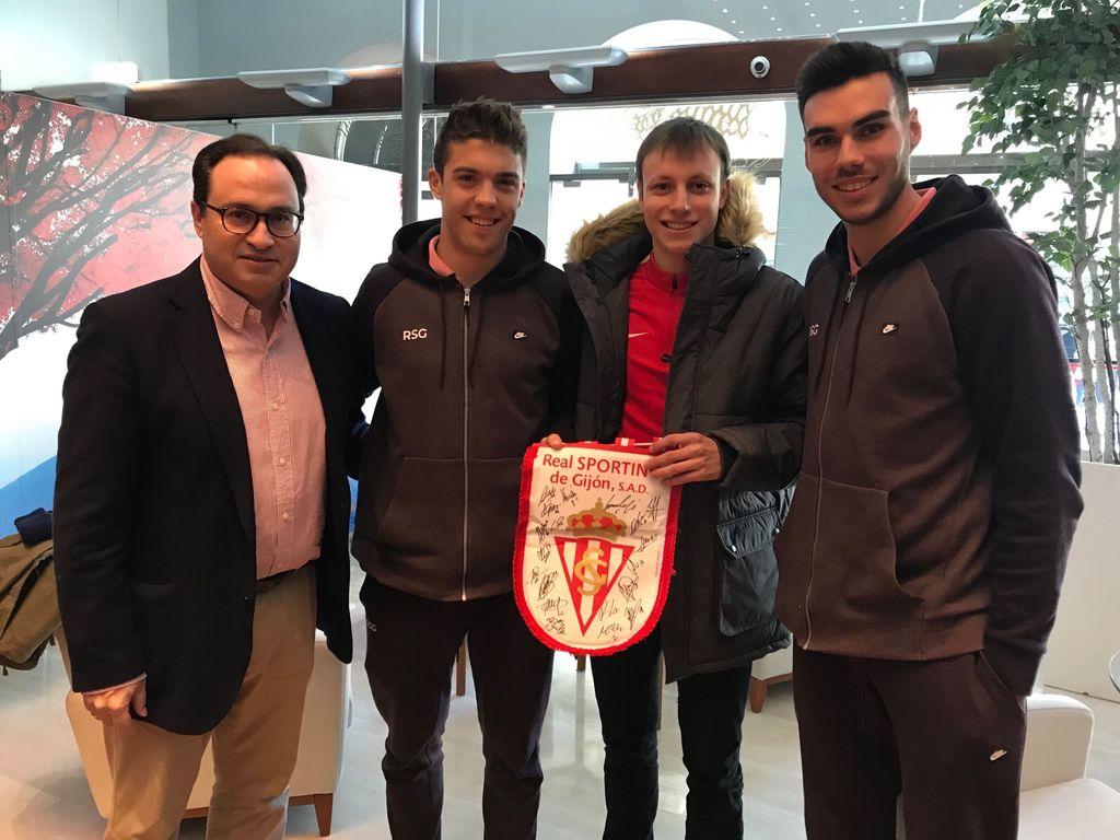 Antonio, juntoa Fernández, Nacho Méndez y Dani Martín (Foto: RSG).