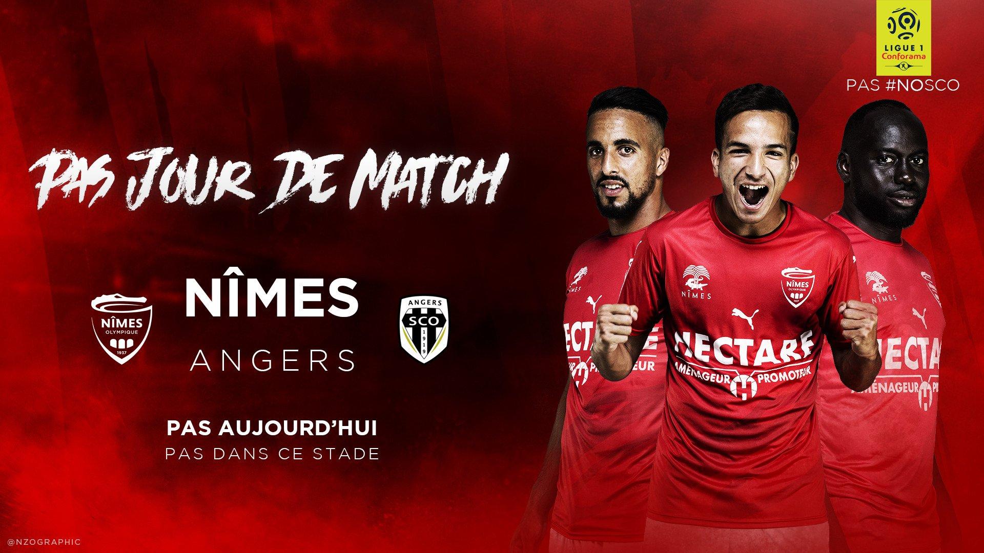 20eme journée de Ligue 1 Conforama : NO-SCO ANGERS DwtbwzjX0AAO11g