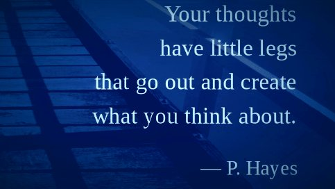 Your thoughts have little legs that...  #SaturdayMorning #quote<br>http://pic.twitter.com/bp5kJJIXUF