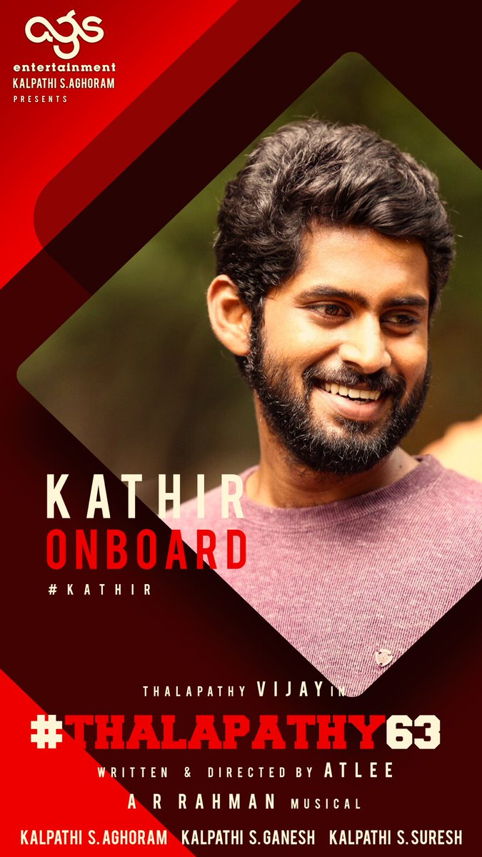 Actor @am_kathir in Thalapathy 63