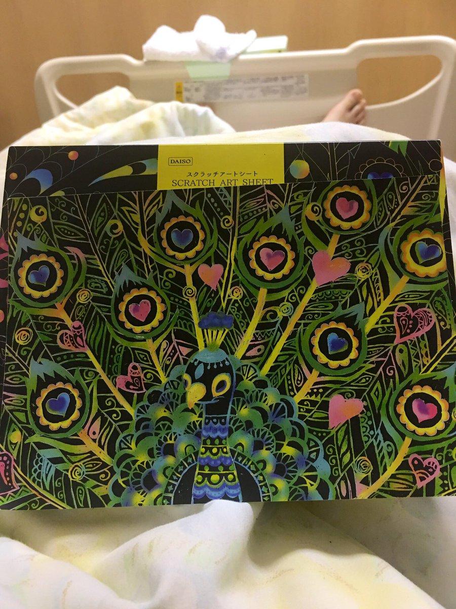 test ツイッターメディア - #DAISO #スクラッチアート 入院中の暇つぶし びほぉあふたぁ スクラッチアート面白い! https://t.co/TFD7GhF2Xh