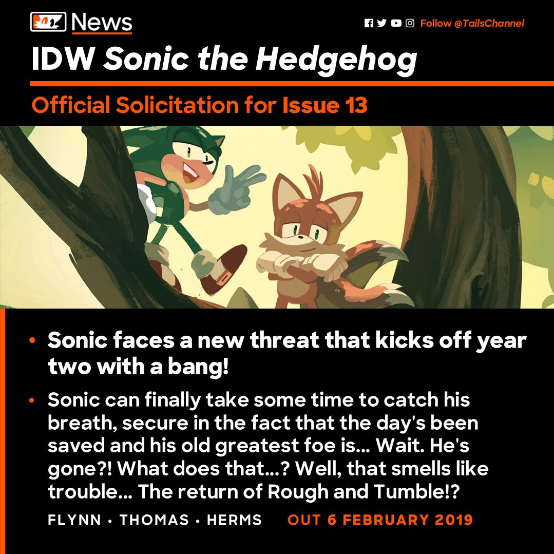 Tails Channel Sonic The Hedgehog News Updates A Twitter Sonic Faces A New Threat That Kicks Off Year Two With A Bang Here S The Official Solicitation For Issue 13 Of