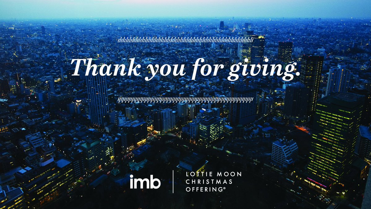 Lottie Moon Christmas Offering 2019.Imb On Twitter Every Church That Gives To The Lottie Moon