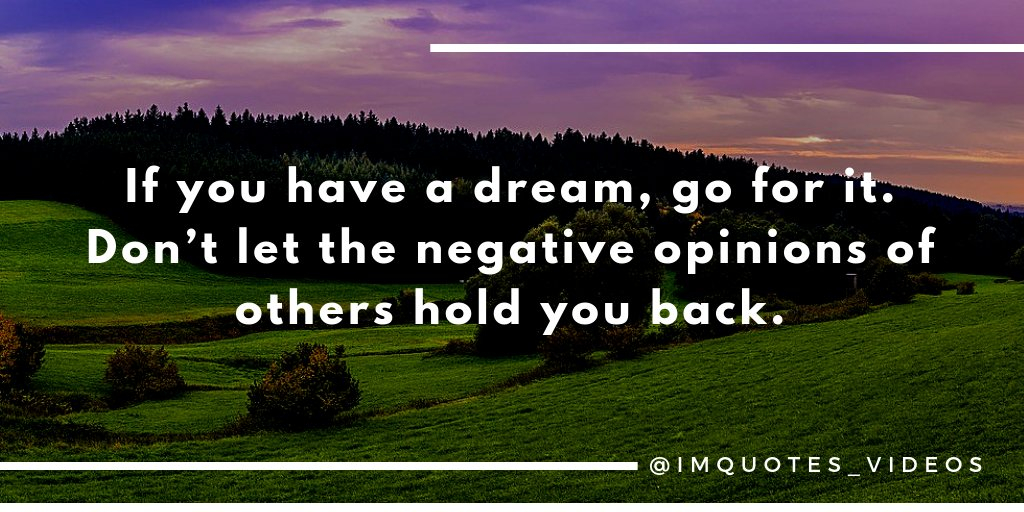 Follow your big dreams regardless of what others think.  #SaturdayMorning <br>http://pic.twitter.com/zUdZ9CA4wE