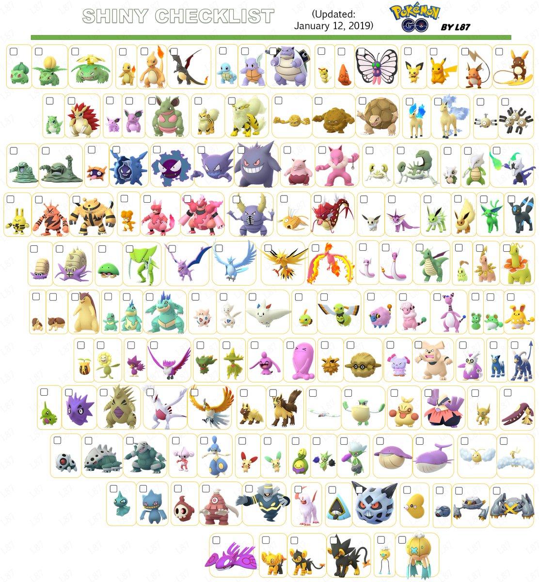 #PokemonGO #PokémonGO Updated ShinyChecklist! #Totodile, #Croconaw &amp; #Feraligatr added! #ShinyPokemonGO #PokemonGOShiny #shinypokemon #shiny #Pokemon #ShinyCheck #ShinyTotodile #ShinyCroconaw #ShinyFeraligatr #pikachu  #sinnoh #meltan #Eevee  #CommunityDay #PokemonGOCommunityDay <br>http://pic.twitter.com/nlHdnXtpvX