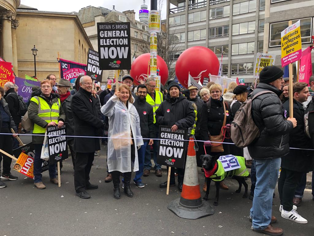 We are out today joining the call for a General Election to break the Brexit deadlock #generalelectionnow #endausterity #GTTO<br>http://pic.twitter.com/9bGyEfenMV