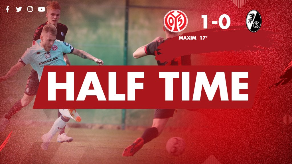 RT @Mainz05en: We're in the lead at half time thanks to a goal from #Maxim ⚽  #M05SCF #UpTheMainz https://t.co/50i49oe3gX