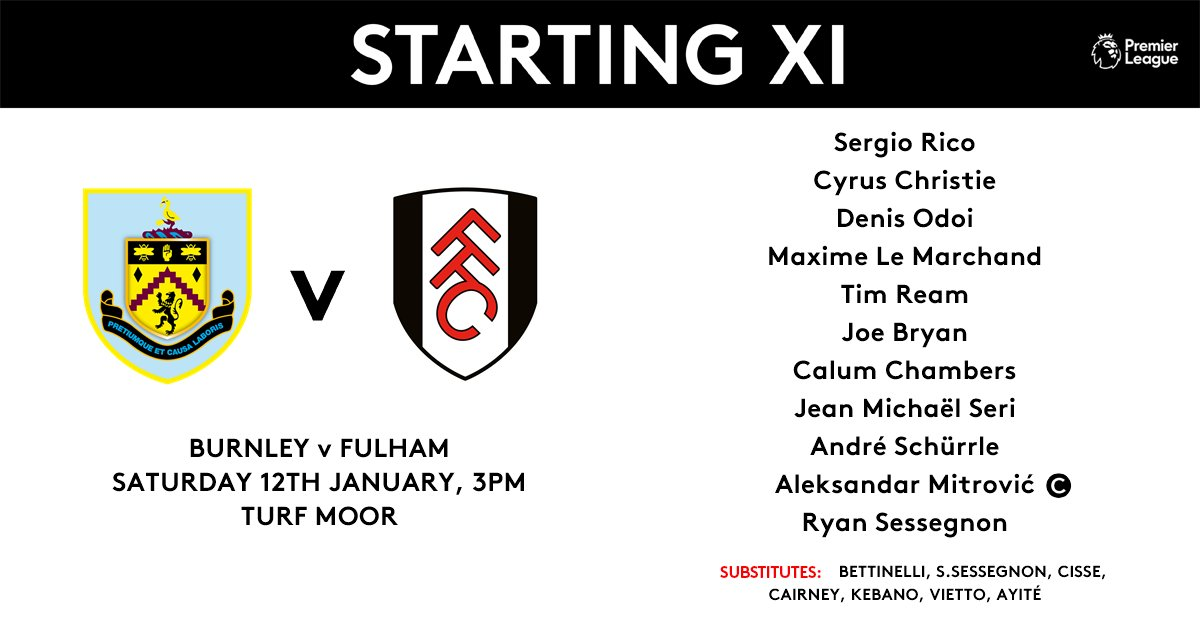 Here's the side which will fight for our first @premierleague double of the season this afternoon 👊  #COYW #BURFUL https://t.co/uB2yqlikUF