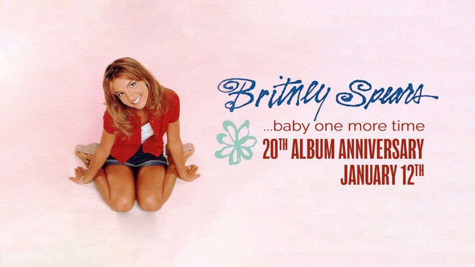 #BabyOneMoreTime  is the epitome of my childhood and all of @britneyspears&#39; music is the soundtrack of my life!  Happy 20th Anniversary to the legendary album that started it all!  #BabyOneMoreTime20  #BritneySpears <br>http://pic.twitter.com/1F9uppgigj