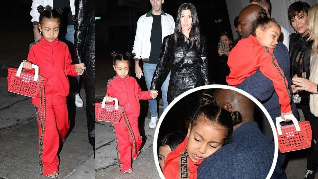 NORTH WEST ROCKS HEAD-TO-TOE FENDI WHILE OUT WITH FAMILY Foto