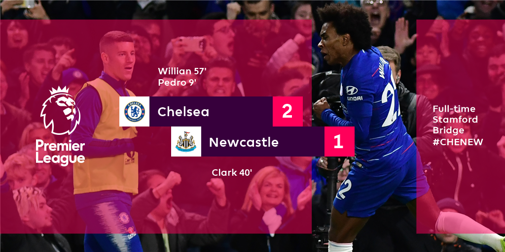RT @premierleague: Chelsea edge Newcastle in a tightly-contested encounter  #CHENEW https://t.co/CN7l8yUBRl