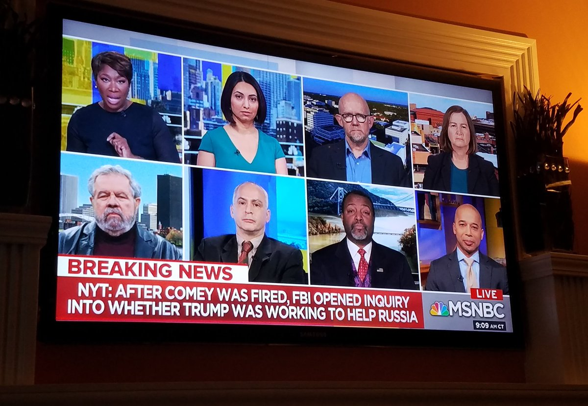 WOW! A KEY panel on #AMJoy right now. With @FrankFigliuzzi1 on the phone! #TraitorInChief #RussianAsset<br>http://pic.twitter.com/ueVaJGjUOu