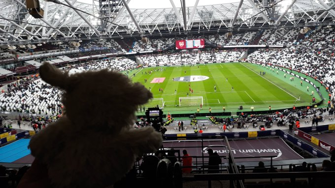 Yay! I was allowed to look after the camera in @LondonStadium for #WHUARS ! Photo