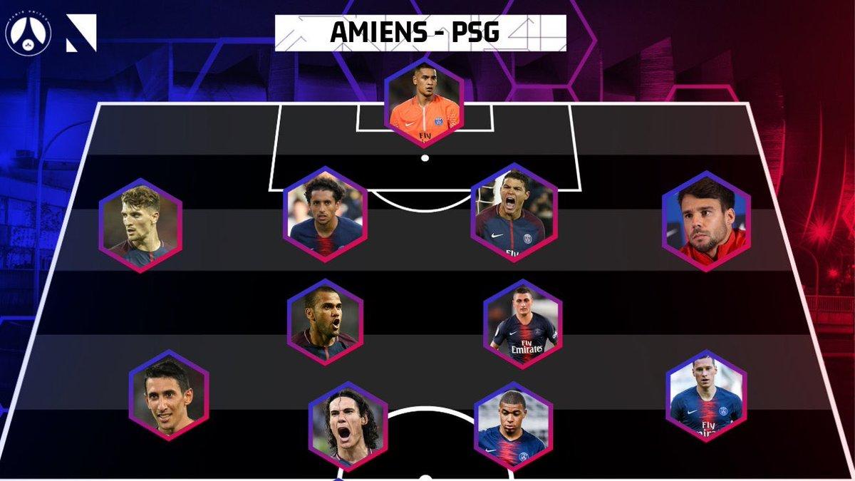 RT @parisunited6: 🔴🔵 Voici le XI de départ côté #PSG pour affronter #Amiens, qu'en pensez-vous ? #ACSPSG https://t.co/K3yaqjj12C