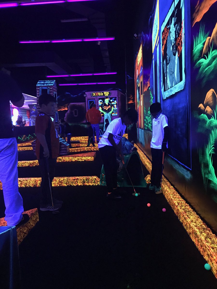 The future of golf is glowing! The 2019 Junior Golf Program is underway at Monster Mini Golf! #tpcpotomac #monsterminigolf #juniorgolf