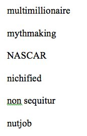 Excerpt from the copyeditor's style sheet for my book: a poem.