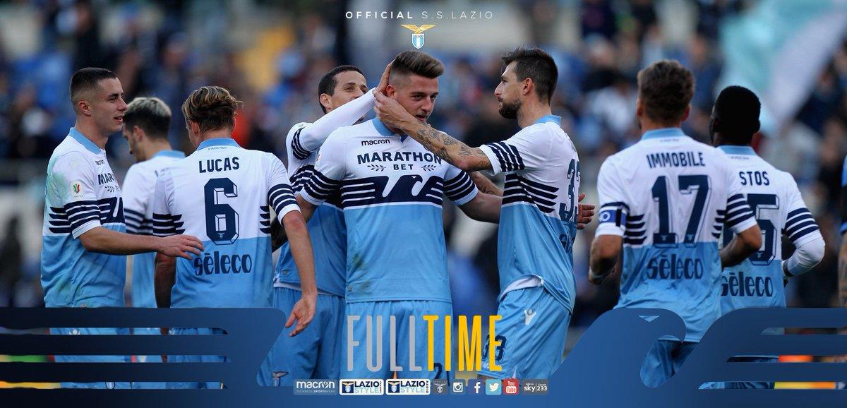 ✅ #LazioNovara 4-1  TRIPLICE FISCHIO! La Lazio cala il poker al @NovaraChannel e stacca il pass per i quarti di finale di Coppa Italia 🏆