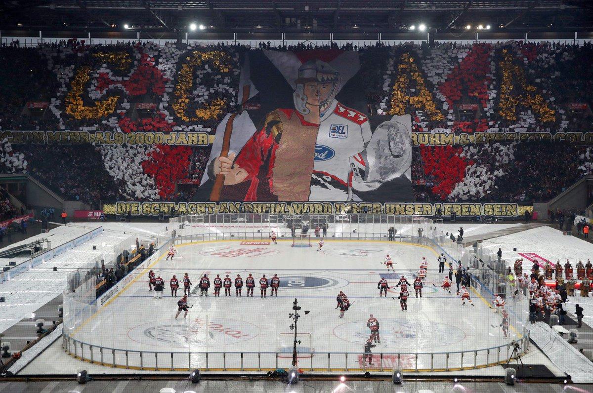 RT @BILD_FC: #KECDEG vor knapp 50.000 im Kölner Stadion. So sah die Südtribüne vor dem Spiel aus. #DELWINTERGAME2019 https://t.co/56ORO6XNoA