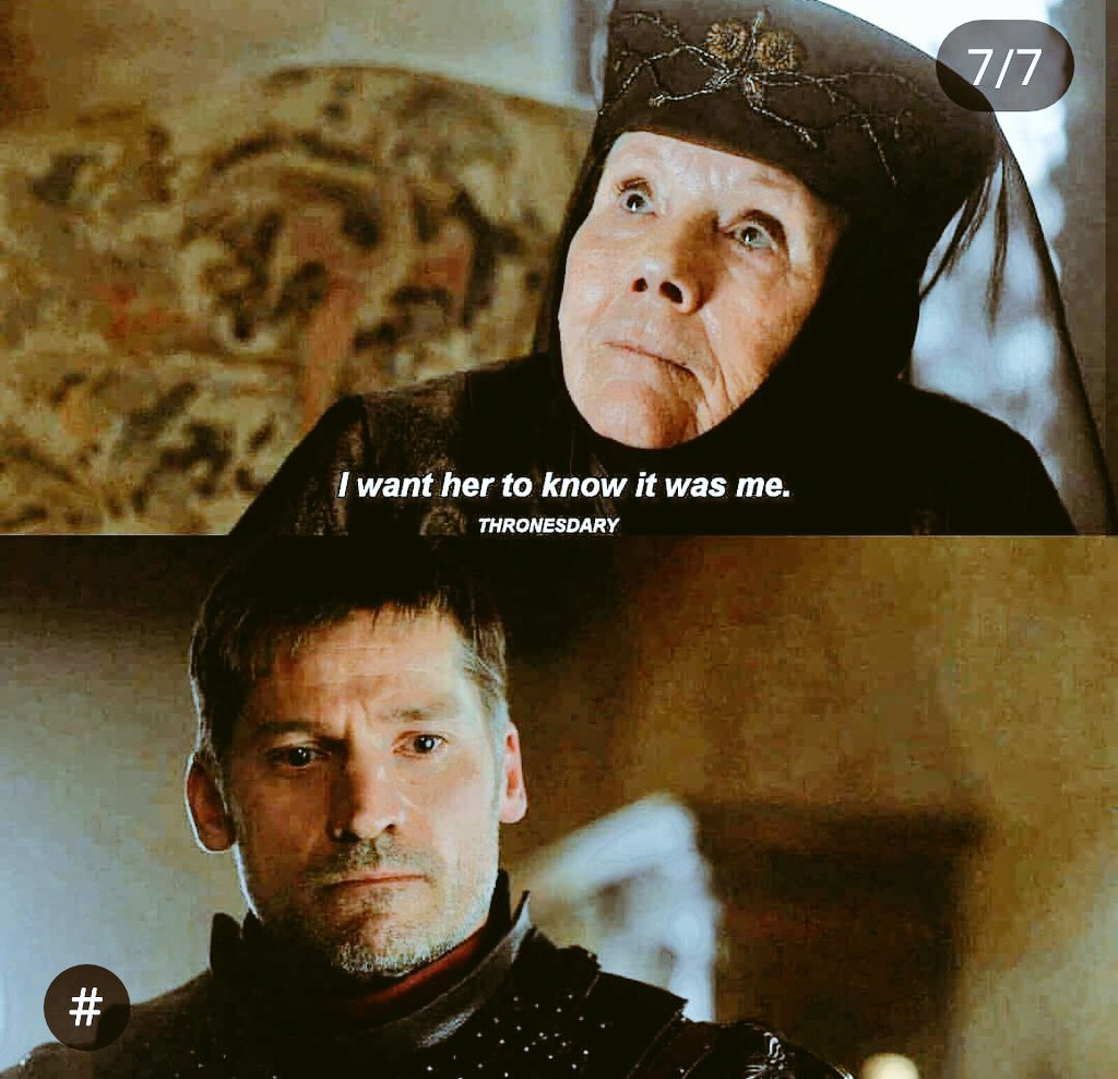 #GameofGames #GameofThronesSeason8  #gameofthronesseason7  &quot;Tell Cersei... I want her to know it was me&quot; <br>http://pic.twitter.com/C7shXDMaEg