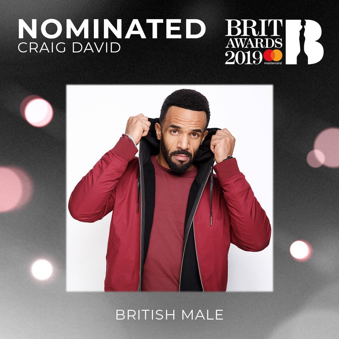 Wow!!! 👀🏆🙌🏽 So honoured to be nominated for British Male Artist at this year's @BRITs alongside so many incredible artists 👏🏽❤ what a way to start 2019✨ #BRITs https://t.co/bLvJV8qHCN