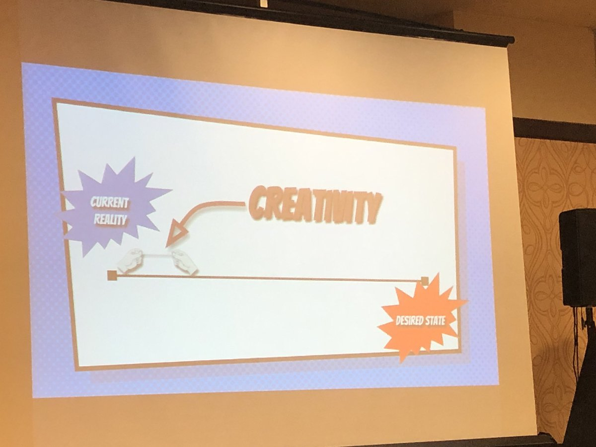 How do you inspire creativity? Stretch that rubber band! @John_Eick #CLStech19 #WeAreCUE
