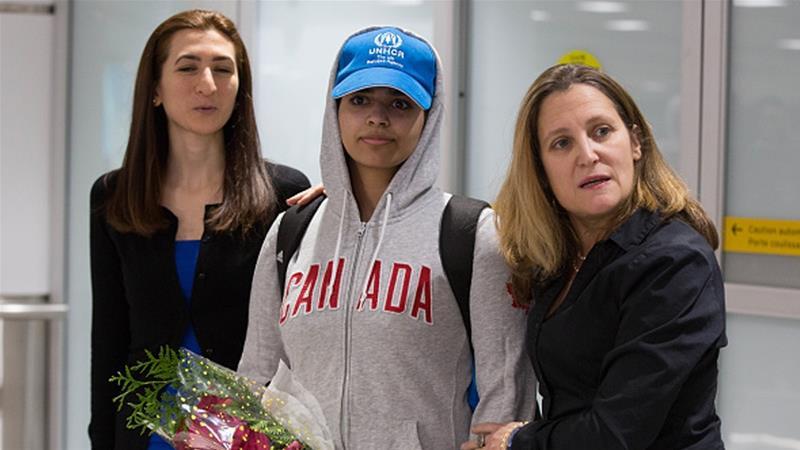 Al Jazeera English's photo on Rahaf